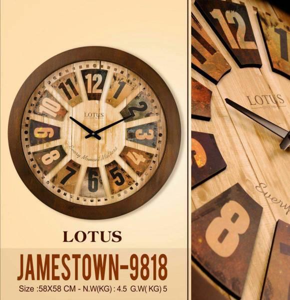 ساعت لوتوس چوبی با صفحه برجسته JAMESTOWN-9818