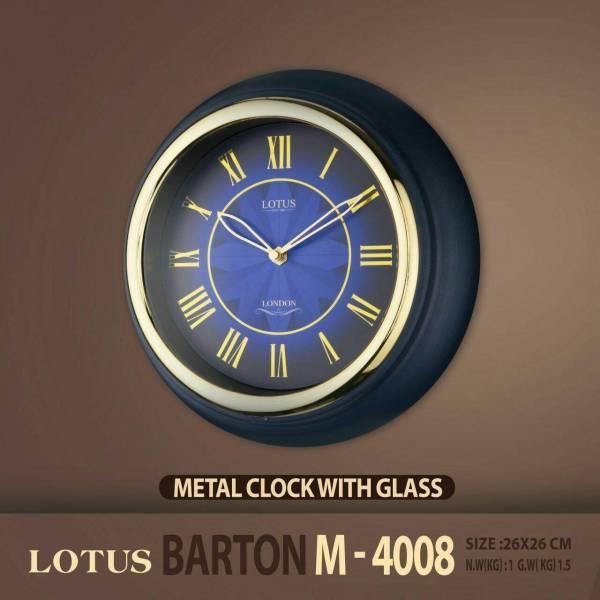 ساعت دیواری دور فلزی لوتوس مدل BARTON M4008
