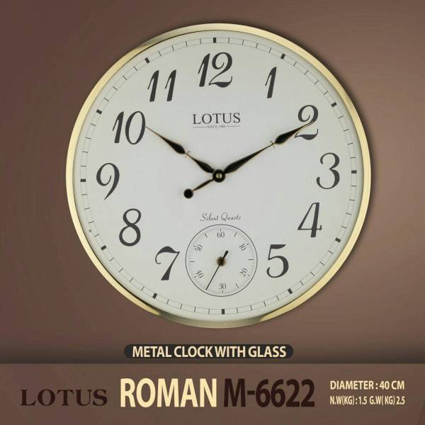 ساعت دیواری فلزی فریم نازک مدل ROMAN M-6622