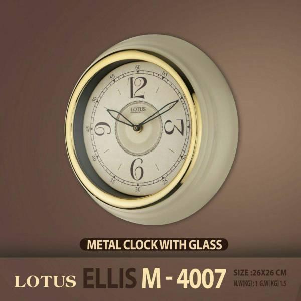 ساعت دیواری دور فلزی لوتوس مدل ELLIS M4007