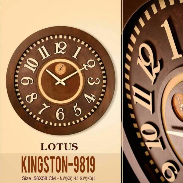 ساعت لوتوس چوبی با صفحه برجسته KINGSTON-9819