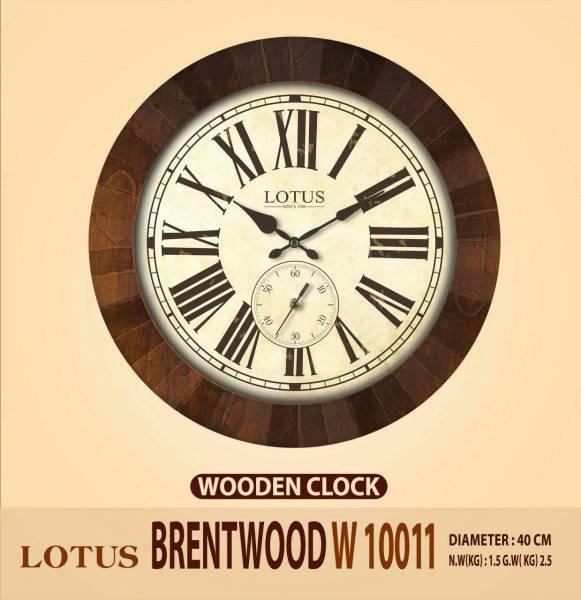 ساعت ديواری چوبی لوتوس مدل BRENTWOOD W10011