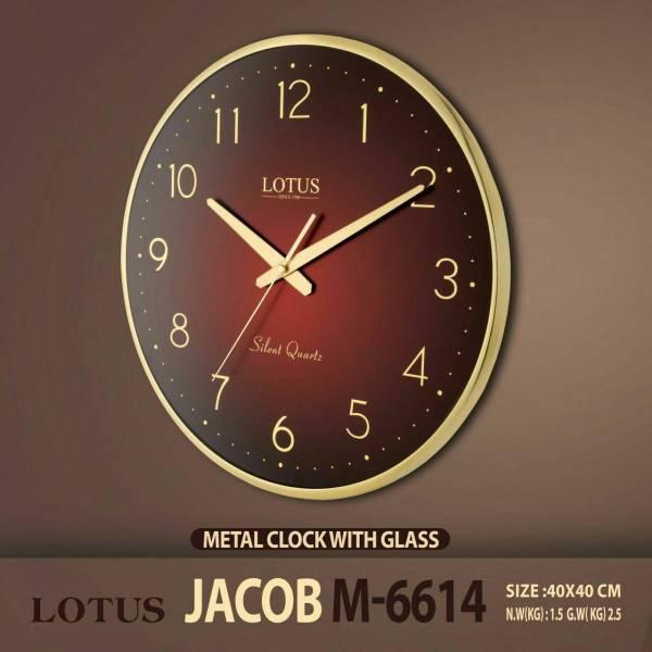 ساعت دیواری فلزی لوتوس مدل JACOB M-6614